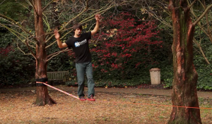 Walking on Slackline