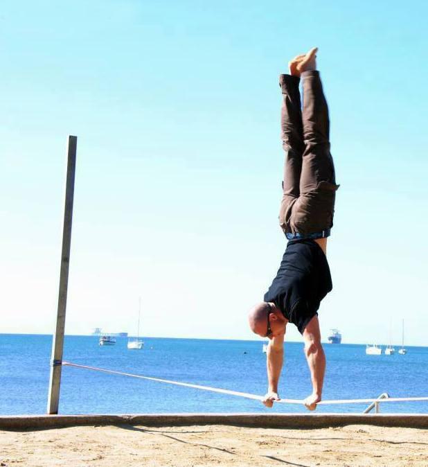 trick-handstand