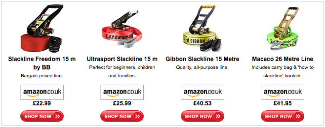 Slackline Offers from Amazon