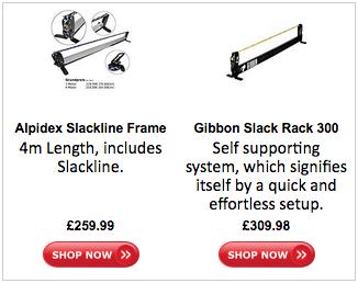 Slackline Rack